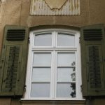 Fenster mit Rundbogen weiß